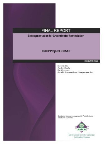 Bioaugmentation for Groundwater Remediation - CLU-IN