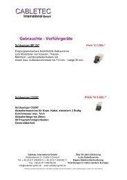 1209.12 GG_Gebrauchte maschinen - CABLETEC International GmbH