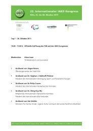 Tag 1 - Internationale Vereinigung Sport