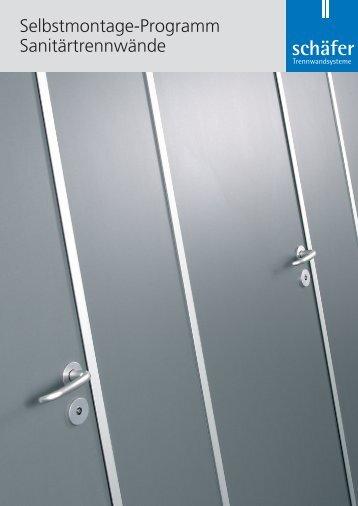 Selbstmontage-Programm Sanitärtrennwände - Schäfer ...