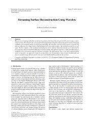 Streaming Surface Reconstruction Using Wavelets - Josiah Manson