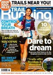 Trail Running August/September 2020