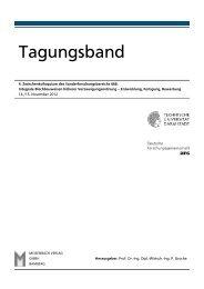 Tagungsband - SFB 666 - Technische Universität Darmstadt