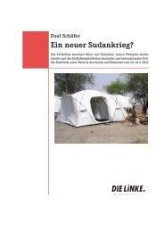 Ein neuer Sudankrieg? - Paul Schäfer