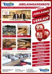 50 Jahre Teppich Stark - Großer Jubiläumsverkauf!