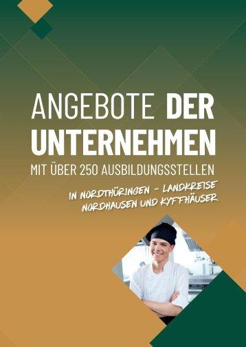 Ausbildungs-Navi für Nord- und Nord-West-Thüringen 2021 Anzeigenteil