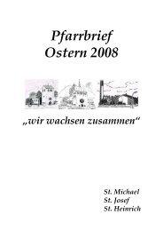 Pfarrbrief Ostern 2008 - St. Heinrich Marl