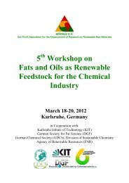 5 Workshop on Fats and Oils as Renewable Feedstock for ... - abiosus