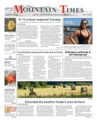 Mountain Times - Volume 49, Number 37 - Sept.9-15, 2020