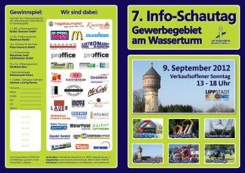 Flyer Info-Schautag am Wasserturm - Lippstadt