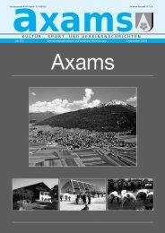 Axamer Zeitung Nr. 53 - Gemeinde Axams - Land Tirol