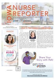 Iowa Nurse Reporter - October 2020