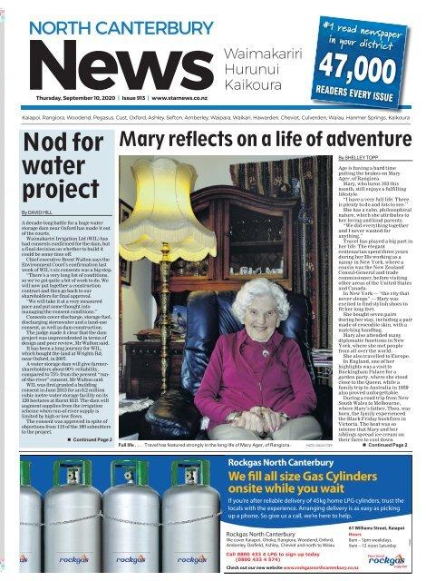 North Canterbury News: September 10, 2020