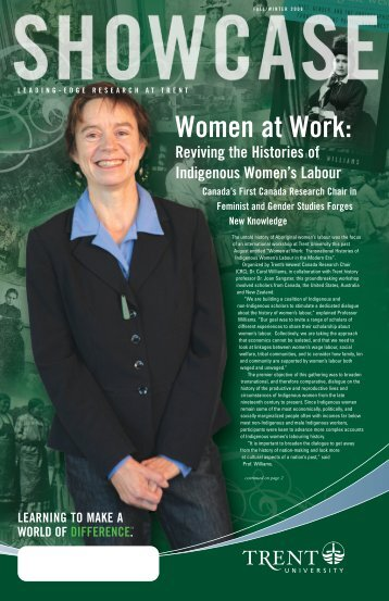 Women at Work: Reviving the Histories of ... - Trent University