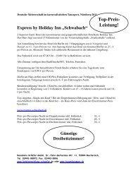"""Express by Holiday Inn """"Schwabach"""" - Reisebüro Schäfer GmbH"""