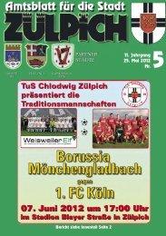 Amtsblatt 05/2012 - Stadt Zülpich