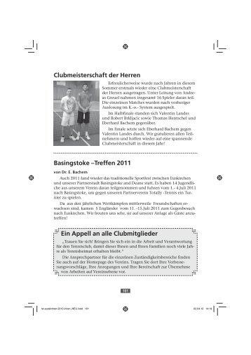 1. Junioren-18-Mannschaft - Tennis Club Rot Weiss Euskirchen eV