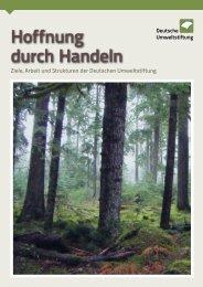 Hoffnung durch Handeln - Deutsche Umweltstiftung