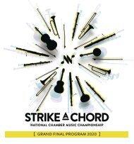 Strike A Chord Grand Final 2020 Program