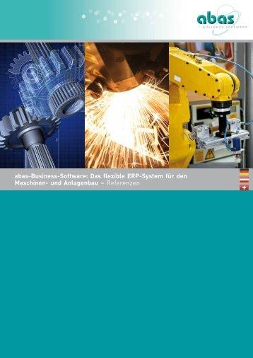 Maschinen- und Anlagenbau: abas-ERP für den Maschinen