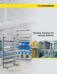 Shelving, Racking and Storage Systems - SSI Schaefer
