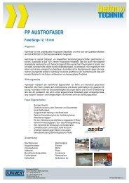 PP AUSTROFASER Faserlänge 12, 18 mm - Betontechnik