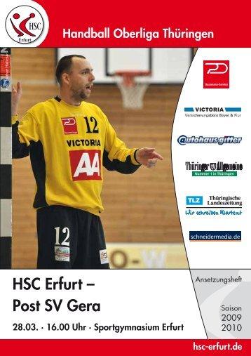 Post SV Gera 28.03. - HSC Erfurt