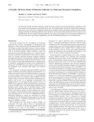A Flexible All-Atom Model of Dimethyl Sulfoxide for Molecular ...