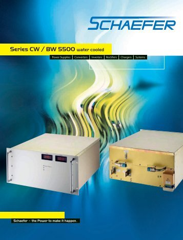 Series CW / BW 5500 water cooled - Schaefer Converters
