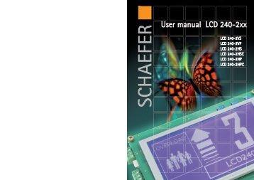 User manual LCD 240-2xx - WS-Schaefer
