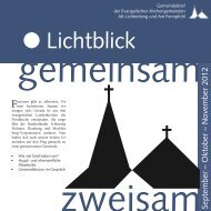27. bis 30. September 2012 - Evangelische Kirchengemeinde Alt ...