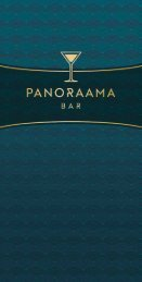 """Karte """"panoraama – die Rulantica Bar"""" DE"""