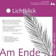 Die Schöpfung - Evangelische Kirchengemeinde Alt-Lichtenberg