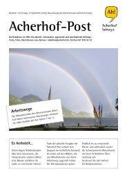 Acherhof-Post Nr. 14   11. September 2020