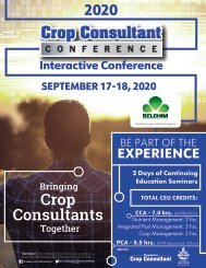 Crop Consultant Conference Agenda