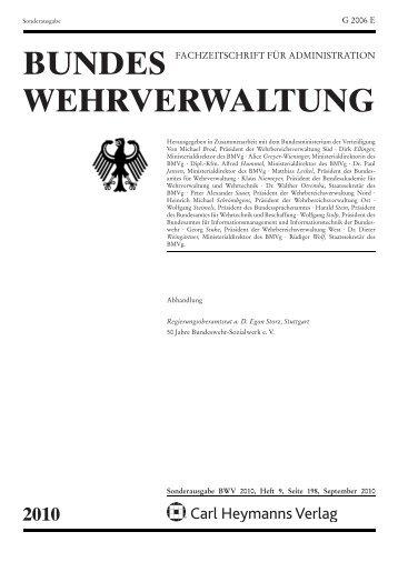 Bundes Wehrverwaltung Bundeswehr Sozialwerk