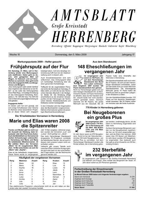 Ordnungsamt Herrenberg