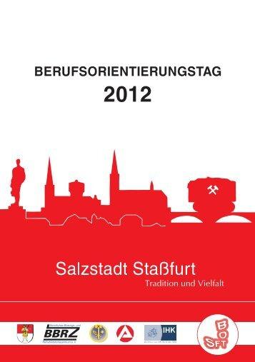 Ausstellerverzeichnis des Berufsorientierungstages ... - Stadt Staßfurt