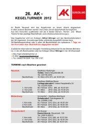 kegelturnier 2012 - AK - Burgenland - Arbeiterkammer