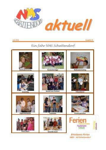 Ein J Jahr N NMS Sch chhatten ndorf - NMS Schattendorf