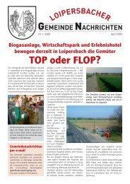 TOP oder FLOP? - Gemeinde Loipersbach
