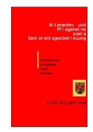 Altenwohn- und Pflegeheime sowie ... - Burgenland.at