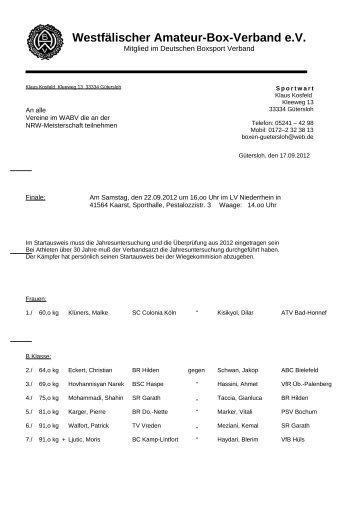 Olaf Schatta Oberstraße 39 58452 Witten - Boxabteilung der PSV ...