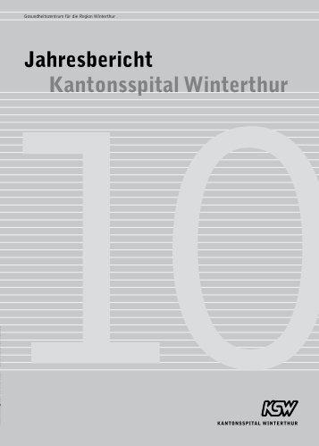Jahresbericht Kantonsspital Winterthur