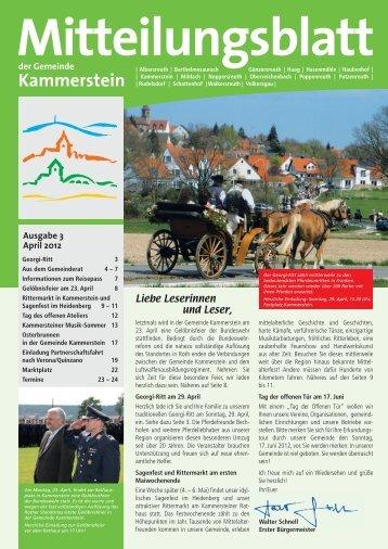 Mitteilungsblatt April 2012 (PDF) - Gemeinde Kammerstein