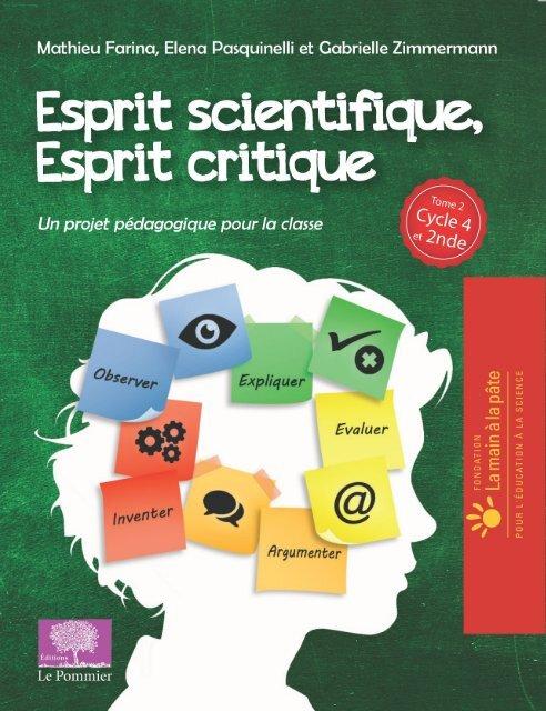 Esprit scientifique, esprit critique, Tome 2 (Cycle 4 et 2nde) - © Éditions Le Pommier/Humensis