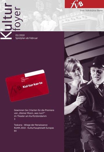 Exklusiv für FVB-Mitglieder - Freie Volksbühne Berlin