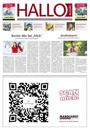 Hallo-Allgäu  vom Samstag, 12.September