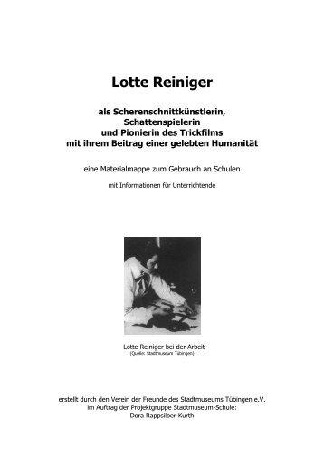 Lotte Reiniger - Verein der Freunde des Stadtmuseums eV