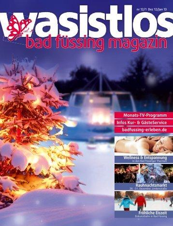 wasistlos badfüssing-magazin - Ausgabe Dez/Jan 2012/2013